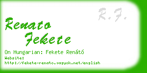 renato fekete business card